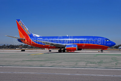 "Southwest Airlines Boeing 737-3H4 N601WN (msn 27695) ""The Jack Vidal"" LAX (Bruce Drum). Image: 100177."