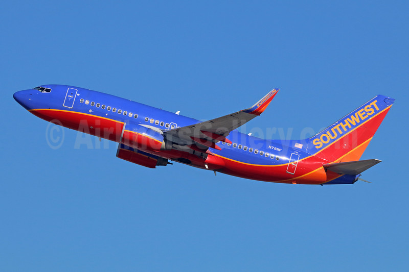 Southwest Airlines Boeing 737-76N WL N7811F (msn 28654) LAX (Michael B. Ing). Image: 939968.