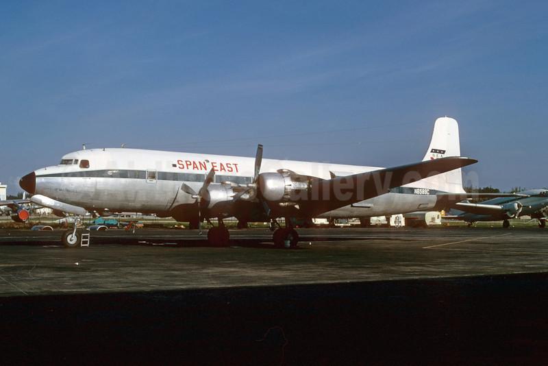 Span East Airlines-SEA Douglas DC-6B (F) N6589C (msn 45225) MIA (Bruce Drum). Image: 103169.