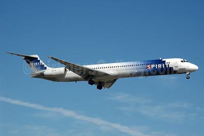 Spirit Airlines McDonnell Douglas DC-9-82 (MD-82) N821NK (msn 49508) FLL (Bruce Drum). Image: 104324.