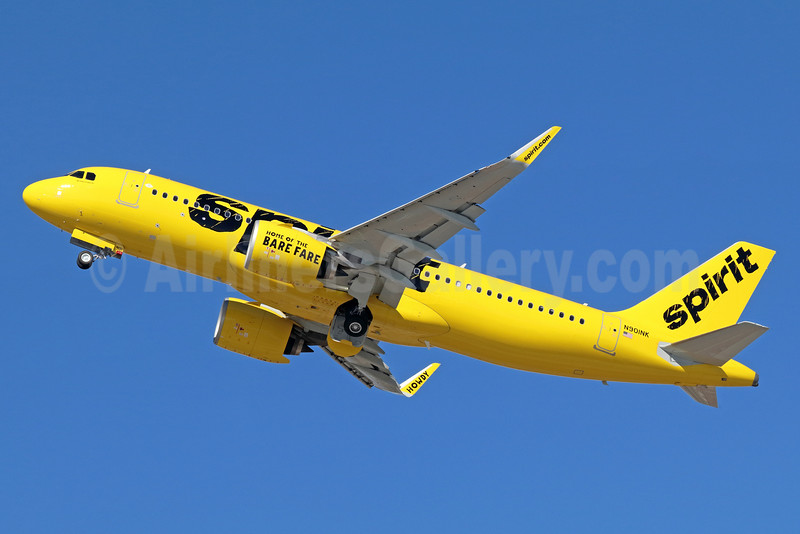 Spirit's first Airbus A320neo, delivered on October 7, 2016