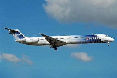 Spirit Airlines McDonnell Douglas DC-9-82 (MD-82) N801NK (msn 48048) FLL (Bruce Drum). Image: 104407.