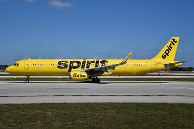 Spirit Airlines Airbus A321-231 WL N665NK  (msn 7045) FLL (Bruce Drum). Image: 104445.