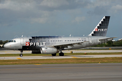 Spirit Airlines Airbus A319-132 N529NK (msn 3007) FLL (Bruce Drum). Image: 104326.