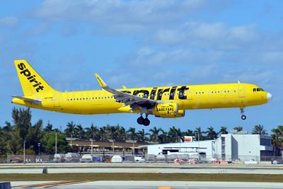 Spirit Airlines Airbus A321-231 WL N659NK  (msn 6770) FLL (Bruce Drum). Image: 104647.