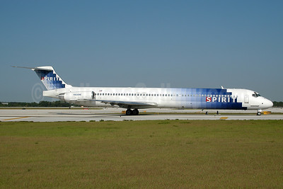 Spirit Airlines McDonnell Douglas DC-9-82 (MD-82) N830NK (msn 49932) MCO (Ton Jochems). Image: 954082.