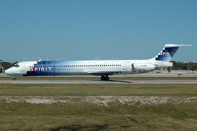 Spirit Airlines McDonnell Douglas DC-9-83 (MD-83) N814NK (msn 49619) FLL (Bruce Drum). Image: 104331.