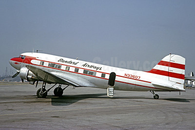 Standard Airways (1st) Douglas DC-3A-375 N33607 (msn 4807) (Hawaiian Airlines colors) LGB (Jacques Guillem Collection). Image: 906628.