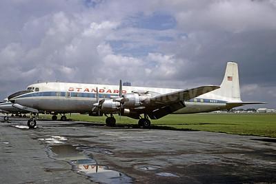 Standard Airways (1st) Douglas DC-7C Seven Seas N297 (msn 45467) (Pan Am colors) MIA (Michel Klein Collection). Image: 921289.
