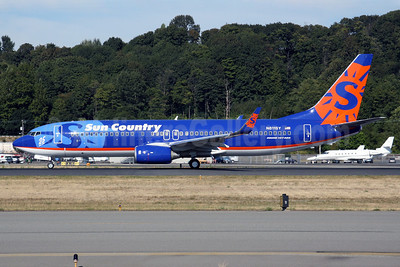 Sun Country Airlines Boeing 737-8BK WL N811SY (msn 29660) (25 Years logo) BFI (Nick Dean). Image: 900579.