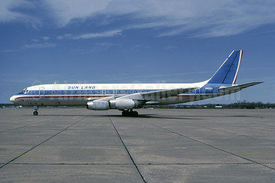 Sun Land Airlines McDonnell Douglas DC-8-31 N905CL (msn 45274) (Capitol colors) (Charles R. Stewart Jr. - Bruce Drum Collection). Image: 947243.