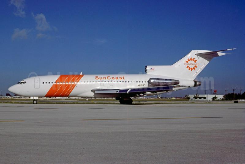 SunCoast Airlines Boeing 727-191 N801SC (msn 19395) MIA (Bruce Drum). Image: 104020.