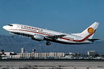 Sunworld International Airways (1st) Boeing 737-3Q8 N841L (msn 23255) LAS (Jay Selman). Image: 400222.