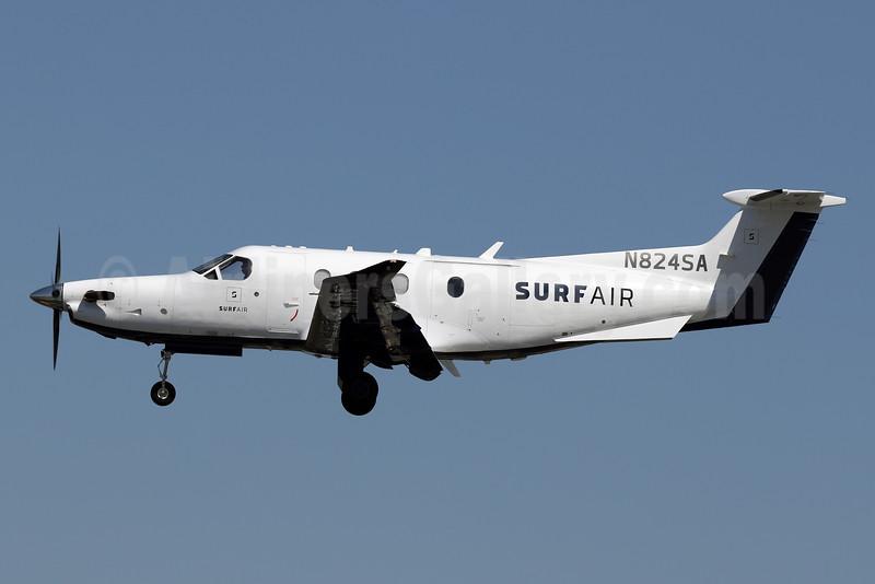 Surf Air Pilatus PC-12/47E N824SA (msn 1523) PSP (James Helbock). Image: 932630.