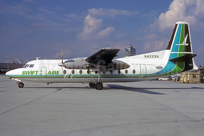 Swift Aire Lines Fokker F.27 Mk. 600 N422SA (msn 10593) LAX (Christian Volpati Collection). Image: 931488.