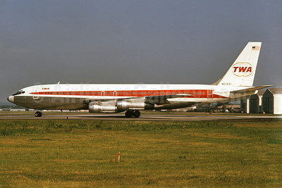 TWA (Trans World Airlines) Boeing 707-131B N6763T (msn 19220) PHL (Bruce Drum). Image: 102474.