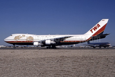 TWA-Trans World Airlines Boeing 747-131 N93108 (msn 19674) JFK (Bill Hough - Bruce Drum Collection). Image: 944816.