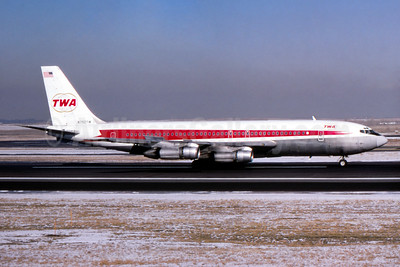 TWA (Trans World Airlines) Boeing 707-131B N752TW (msn 18391) DEN (John B. Hayes). Image: 942594.