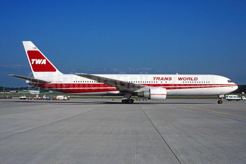 TWA-Trans World Airlines Boeing 767-3Y0 ER EI-CAM (msn 24953) (Bruce Drum Collection). Image: 913173.