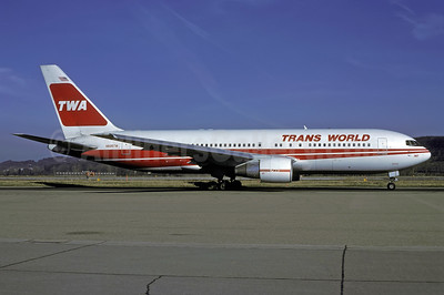 TWA-Trans World Airlines Boeing 767-231 ER N605TW (msn 22568) ZRH (Rolf Wallner). Image: 945223.