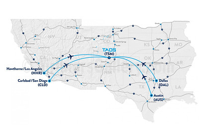 Taos Air Route Map (2020)