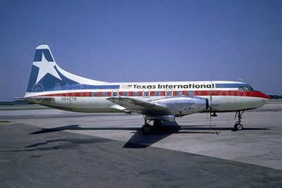 Texas International Airlines Convair 600 N94278 (msn 163) DAL (Ted J. Gibson - Bruce Drum Collection). Image: 946887.