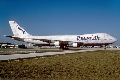 Tower Air Boeing 747-130 N604FF (msn 19746) MIA (Bruce Drum). Image: 102756.