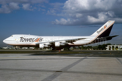 Tower Air Boeing 747-121 N604FF (msn 19659) MIA (Bruce Drum). Image: 102755.