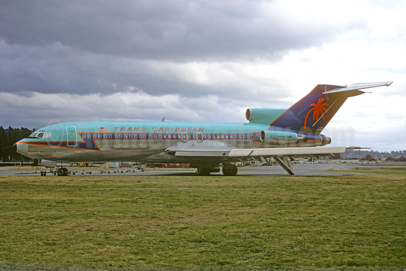 Trans Caribbean Airways Boeing 727-1A7C N8789R (msn 20143) BFI (Jacques Guillem Collection). Image: 925777.