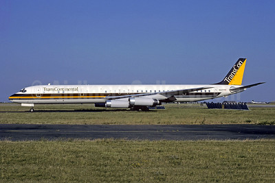 Trans Continental Airlines-TransCon (2nd) McDonnell Douglas DC-8-63 N820TC (msn 45999) ORY (Jacques Guillem). Image: 951413.