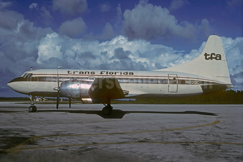 Trans Florida Airlines-TFA Convair 240-4 N1020C (msn 144) TPA (Christian Volpati Collection). Image: 932612.