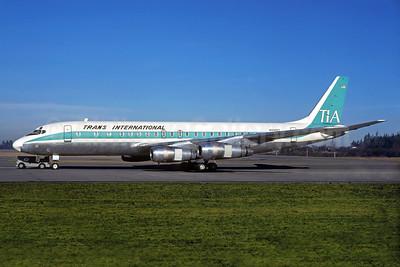 Trans International Airlines-TIA (1st) McDonnell Douglas DC-8F-55 Jet Trader N3325T (msn 45754) OAK (Jacques Guillem Collection). Image: 935229.