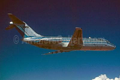 """First TTa DC-9 """"Pamper Jet"""", delivered September 30, 1966"""