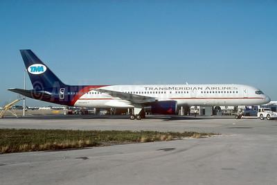 TransMeridian Airlines (USA) Boeing 757-236 N958PG (msn 24118) MIA (Bruce Drum). Image: 104033.