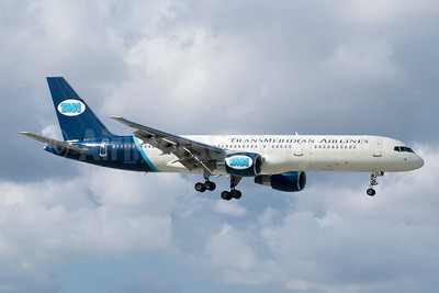 TransMeridian Airlines-TMA (USA) Boeing 757-231 N715TW (msn 28483) MIA (Jay Selman). Image: 404095.