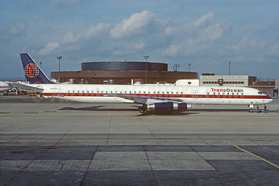 TransOcean Airways (2nd) McDonnell Douglas DC-8-63 N795AL (msn 46136) LGW (Christian Volpati Collection). Image: 929912.