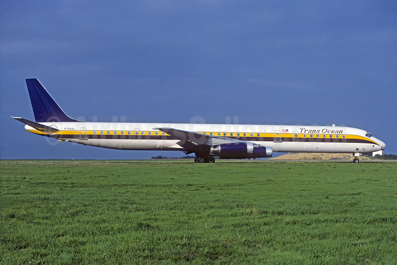 TransOcean Airways (2nd) McDonnell Douglas DC-8-63 N794AL (msn 45923) (Christian Volpati Collection). Image: 931819.