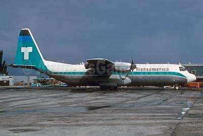 Transamerica Airlines Lockheed 382G Hercules (L-100-30) N17ST (msn 4333) MIA (Bruce Drum). Image: 103828.
