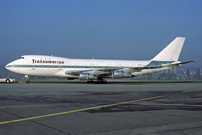 Transamerica Airlines Boeing 747-130 N780T (msn 19746) ZRH (Rolf Wallner). Image: 913509.