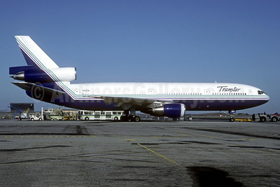 Transtar Airlines (2nd) McDonnell Douglas DC-10-10 N102UA (msn 46905) LAX (Christian Volpati Collection. Image: 941648.