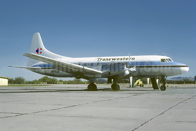 Transwestern Airlines Convair 580 N73121 (msn 35) MZJ (Jacques Guillem Collection). Image: 941556.