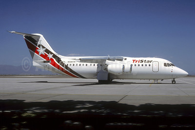 TriStar Airlines (USA) BAe 146-200 N136TR (msn E2136) LAS (Jacques Guillem Collection). Image: 941255.