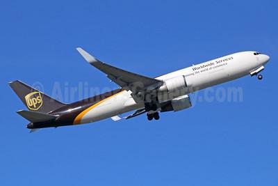 UPS Airlines (UPS-Worldwide Services) Boeing 767-34AF ER WL N305UP (msn 27243) ANC (Michael B. Ing). Image: 936642.