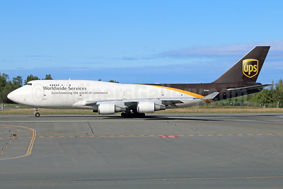 UPS Airlines (UPS-Worldwide Services) Boeing 747-45E (BCF) N578UP (msn 27154) ANC (Michael B. Ing). Image: 936651.