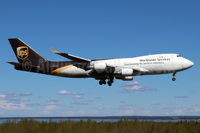 UPS Airlines (UPS-Worldwide Services) Boeing 747-44AF N570UP (msn 35667) ANC (Michael B. Ing). Image: 938316.