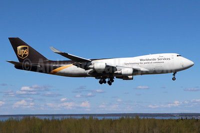 UPS Airlines (UPS-Worldwide Services) Boeing 747-44AF N577UP (msn 35666) ANC (Michael B. Ing). Image: 938242.