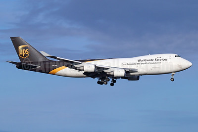 UPS Airlines (UPS-Worldwide Services) Boeing 747-44AF N573UP (msn 35662) ANC (Michael B. Ing). Image: 936649.