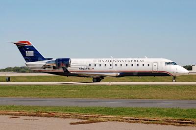 US Airways Express-Air Wisconsin Bombardier CRJ200 (CL-600-2B19) N463AW (msn 7878) CLT (Bruce Drum). Image: 105289.