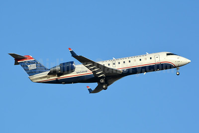 US Airways Express-Air Wisconsin Bombardier CRJ200 (CL-600-2B19) N434AW (msn 7322) CLT (Jay Selman). Image: 404029.