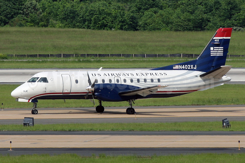 US Airways Express-Mesaba Airlines SAAB 340B N402XJ (msn 402) IAD (Brian McDonough). Image: 906520.